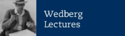Wedberg Lectures